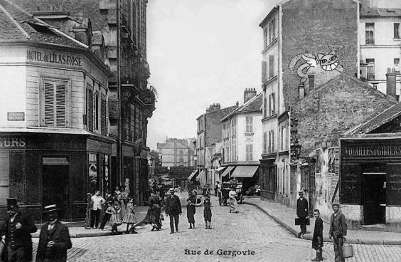 GERGOVIE (RUE DE) Depuis la rue de L'Ouest. 75014 - Paris