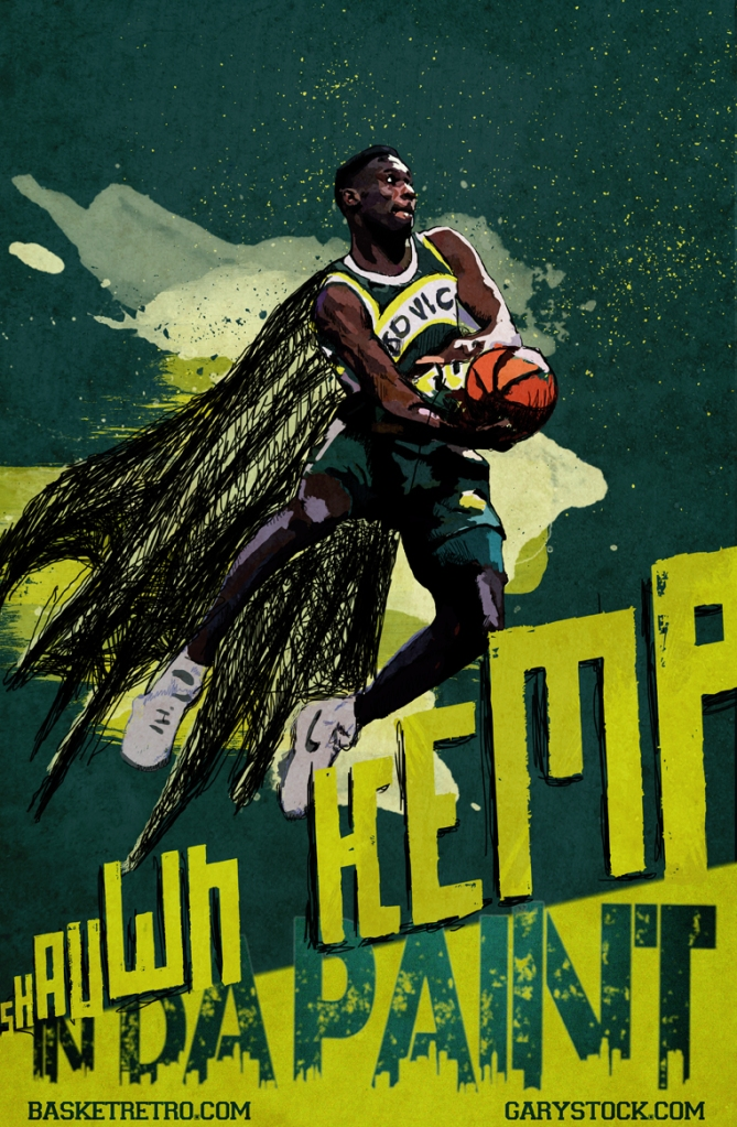 shaunw kemp by gary storck seattle sonics